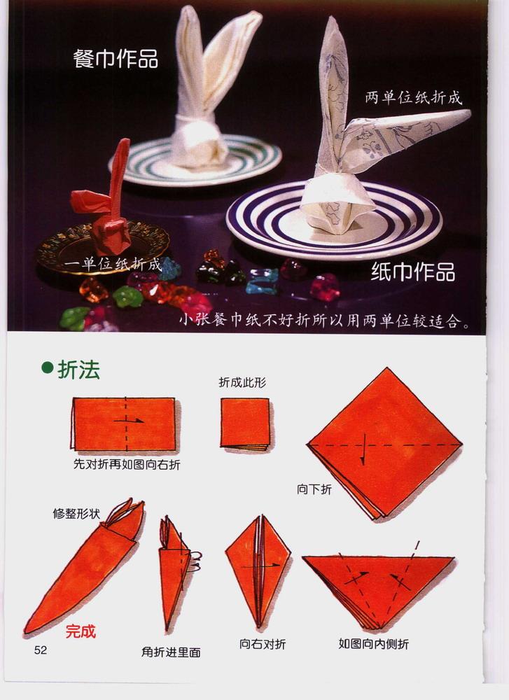 餐巾纸的折法[转帖]