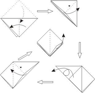 元宝六角亭的折法步骤图