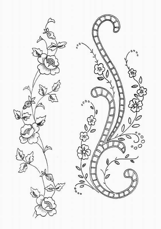 手绘简单刺绣图案