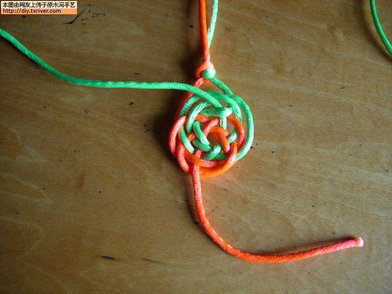 纽扣结编织方法图解视频