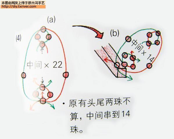 原木河diy手艺论坛→求助喜字的串珠图解!表弟要结婚