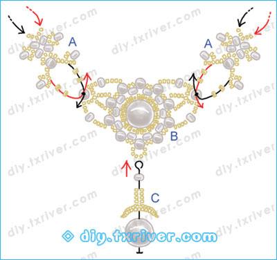 米珠串珠项链图解